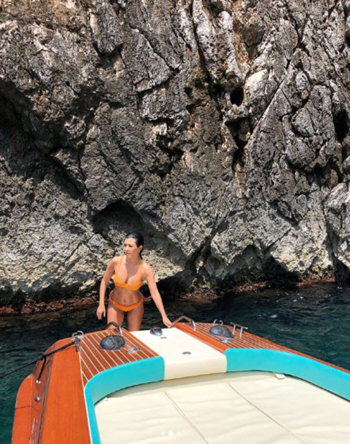 Kourtney Kardashian ile sevgilisi Younes Bendjima, İtalya'da - Magazin haberleri