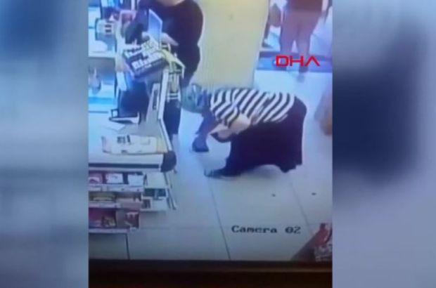 Marketteki cüzdan hırsızlığı kameralara yansıdı