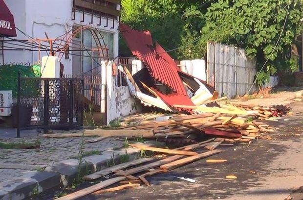Tekirdağ'da fırtınanın şiddeti gün ağarınca ortaya çıktı