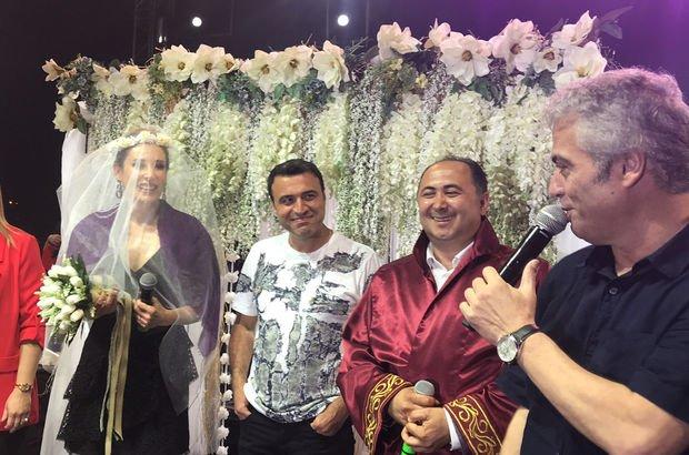 Funda Arar ve eşi Febyo Taşel'e sahnede sürpriz nikah! - Magazin haberleri