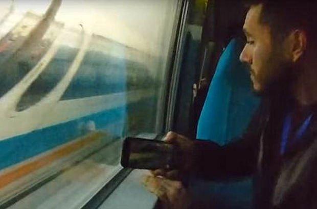 700 kilometre hızla giden treni fotoğrafladılar!