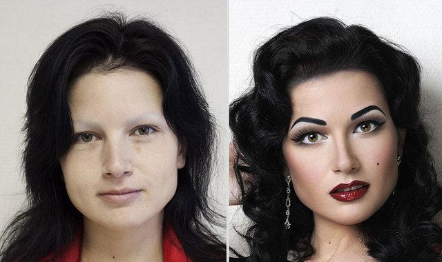 Rus kadınların makyajsız halleri