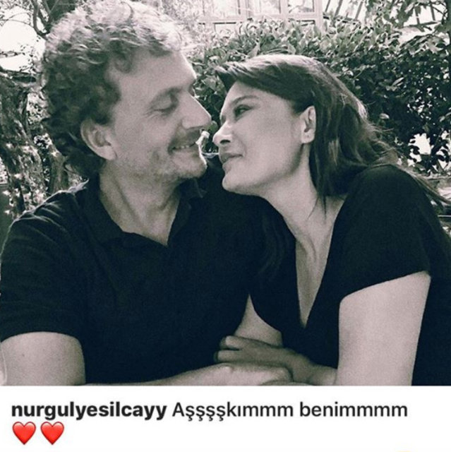 Nurgül Yeşilçay sevgilisi Necati Kocabay'la fotoğrafını paylaştı
