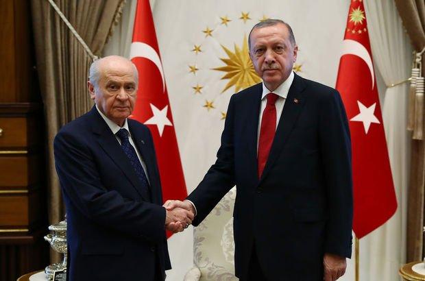 Son dakika... Erdoğan-Bahçeli görüşmesinden ayrıntılar: Her türlü desteği vereceğiz
