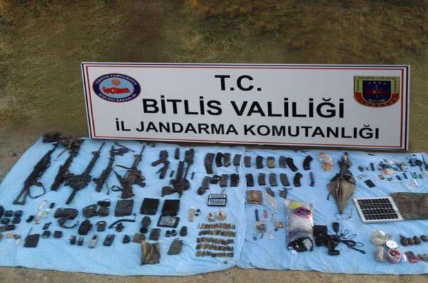 Bitlis'te teröristlere ait mühimmat bulundu