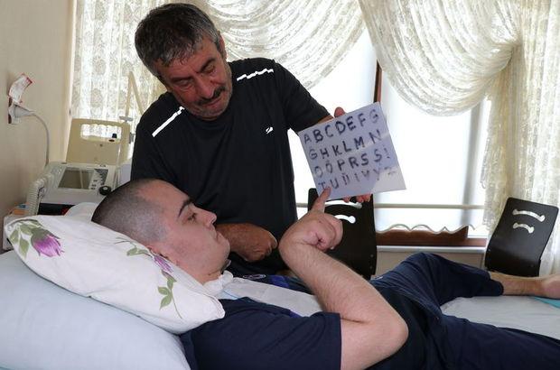 Serebral palsi hastası genç 10 yıldır hayata tutunuyor