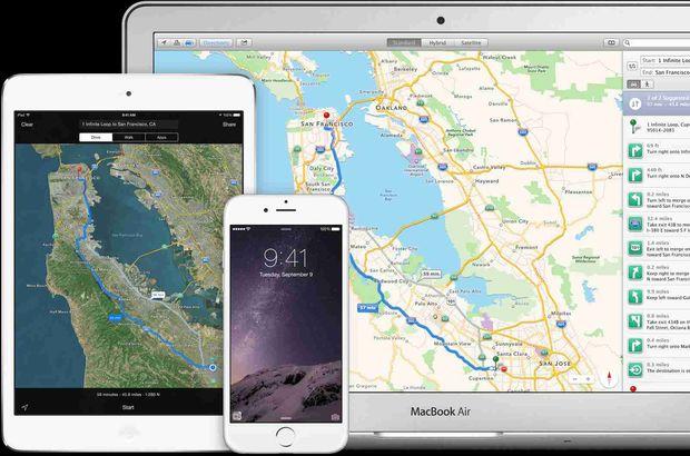 Apple harita servisini sıfırdan tasarlıyor!