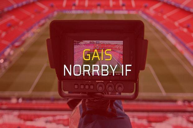 GAIS - Norrby IF maçı rakamları