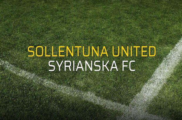 Sollentuna United - Syrianska FC maçı istatistikleri