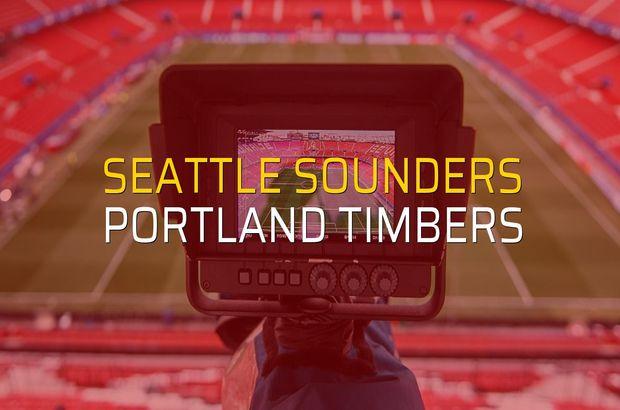 Seattle Sounders - Portland Timbers maç önü