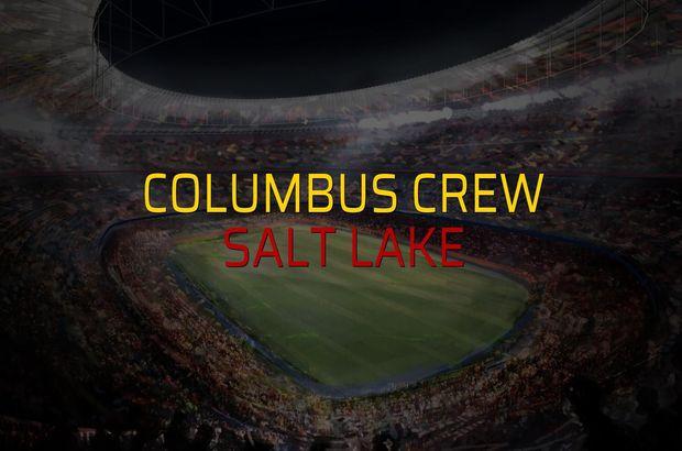 Columbus Crew - Salt Lake sahaya çıkıyor