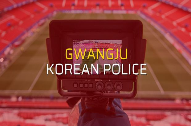 Gwangju - Korean Police karşılaşma önü