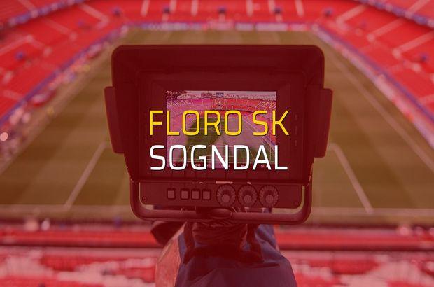 Floro SK - Sogndal maçı rakamları