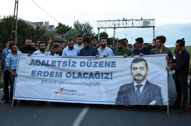 CHP'li gençler, Eren Erdem'in tutuklanmasını protesto etti