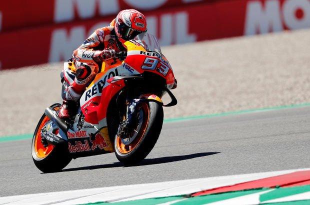 Hollanda Grand Prix'sinde kazanan Marc Marquez