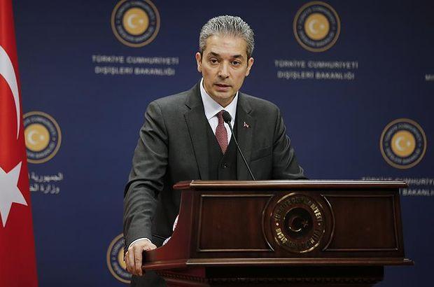 Dışişleri Bakanlığı Sözcüsü Aksoy'dan Afrin açıklaması