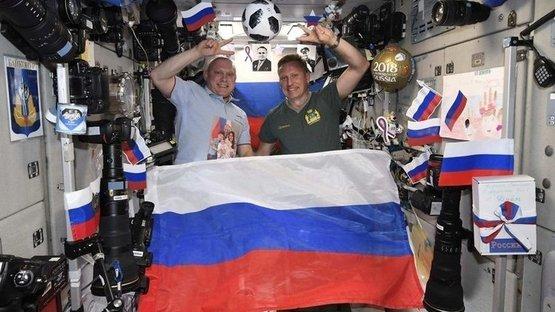 Rusya'nın Dünya Kupası sevinci uzaya taşındı