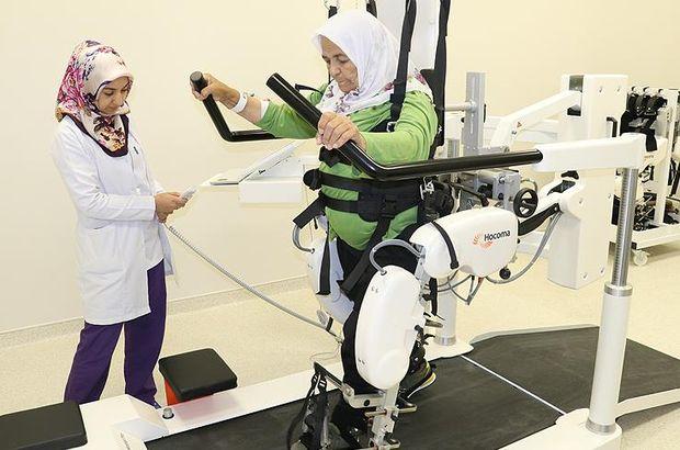 Şehir hastanesinin 'yürüme robotu' hastalara umut oldu