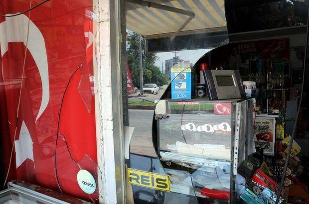 Türk bayraklı markete saldırı