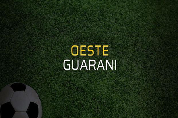 Oeste - Guarani rakamlar