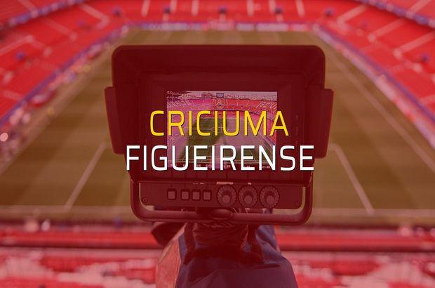 Criciuma - Figueirense maçı heyecanı
