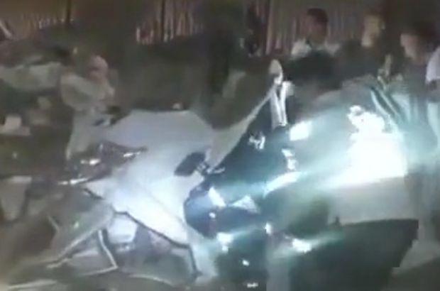 Kocaeli'de otomobil köprüden düştü