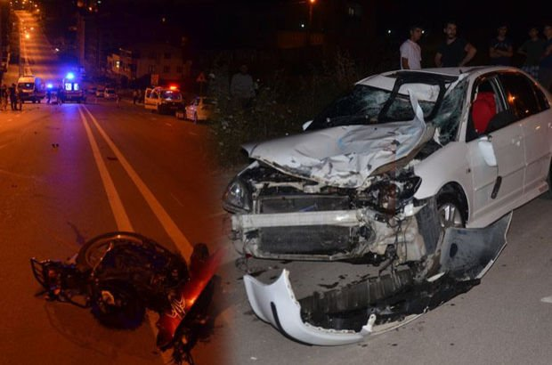 bursa otomobil ve motosiklet kazası