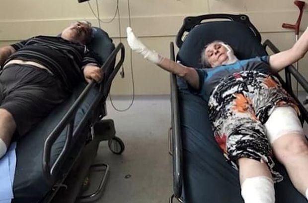 Karı koca hastanede tedavi altına alındı