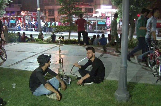 Konya'da kafe yangını! Nargile içerek izlediler