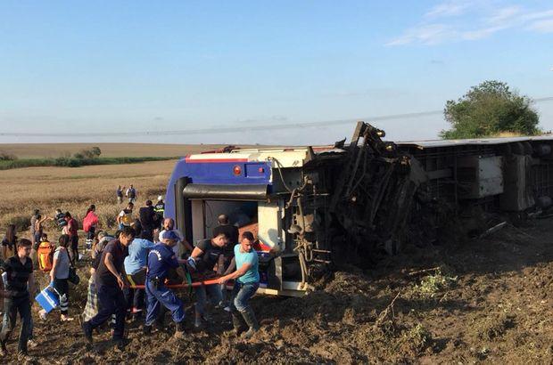 yolcu treni kazası