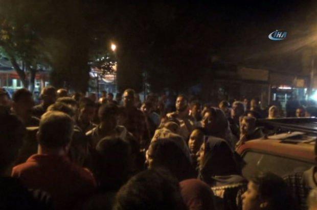 Öfkeli kalabalık güçlükle dağıldı