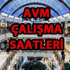 AVM ÇALIŞMA SAATLERİ...