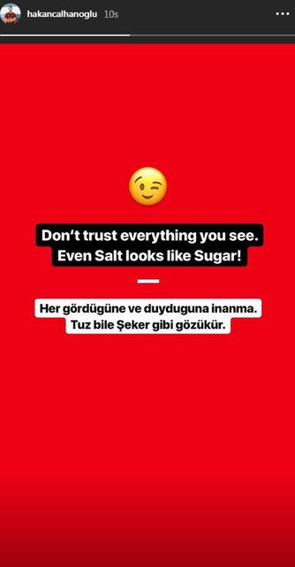 Hakan Çalhanoğlu'ndan o fotoğrafa açıklama - Magazin haberleri