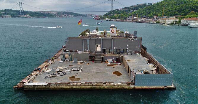 Galatasaray Adası'nın son hali 14 Mayıs 2018'te havadan böyle görüntülenmişti