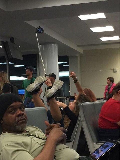 Havaalanlarında karşılaşılan ilginç görüntüler
