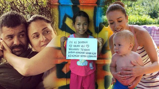 Dolunay Soysert'den Bülent Şakrak-Ceyda Düvenci çiftinin oğluna sürpriz kutlama