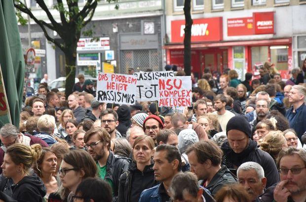 NSU davası kararları Hamburg'da protesto edildi