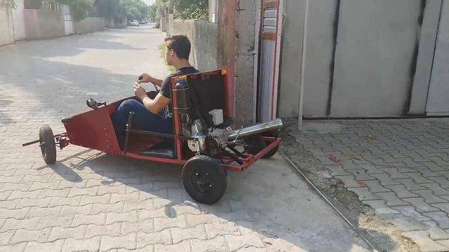 400 liraya kendi arabasını yapmıştı, test etti!