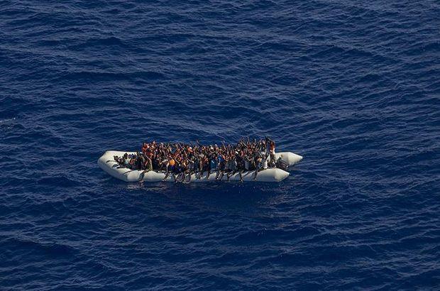 Libya açıklarında 104 kaçak göçmen kurtarıldı