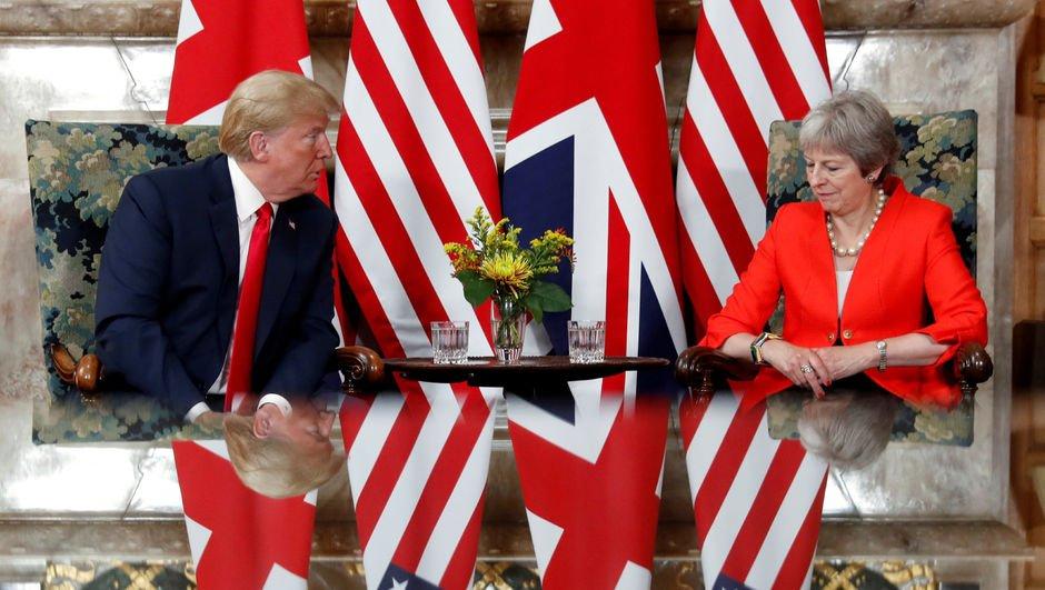 Trump'tan İngiltere'de kritik açıklamalar!