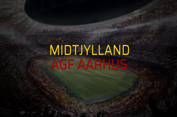 Midtjylland - AGF Aarhus maçı rakamları