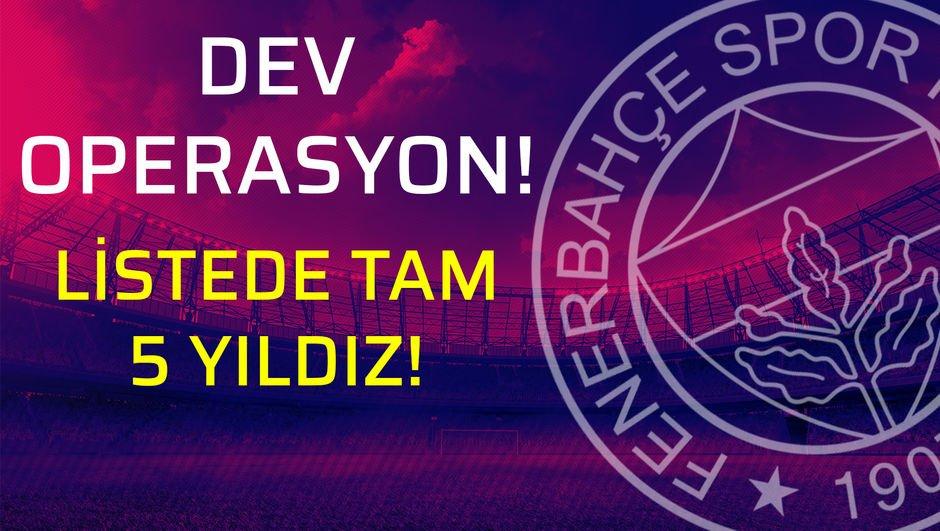 Fenerbahçe'nin gözü bu yıldızlarda