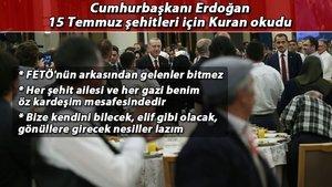 Erdoğan 15 Temmuz şehitleri için Kuran okudu
