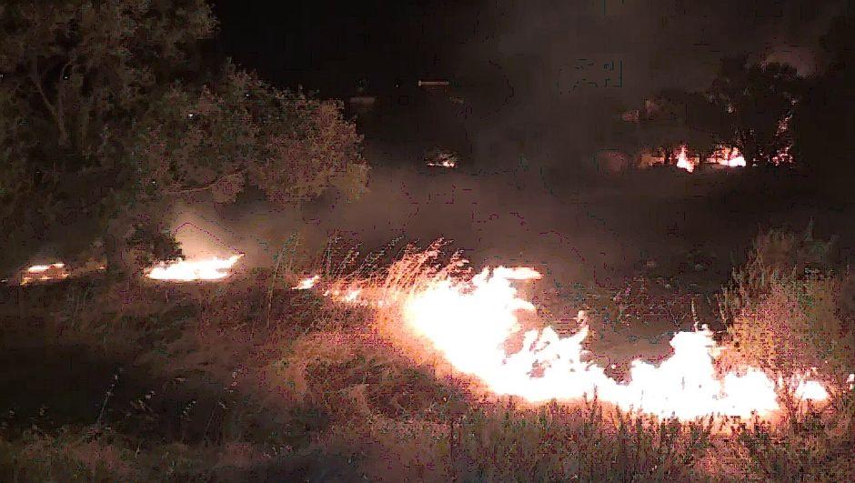 Bodrum'da yerleşim yerlerine çok yakın alanda yangın çıktı