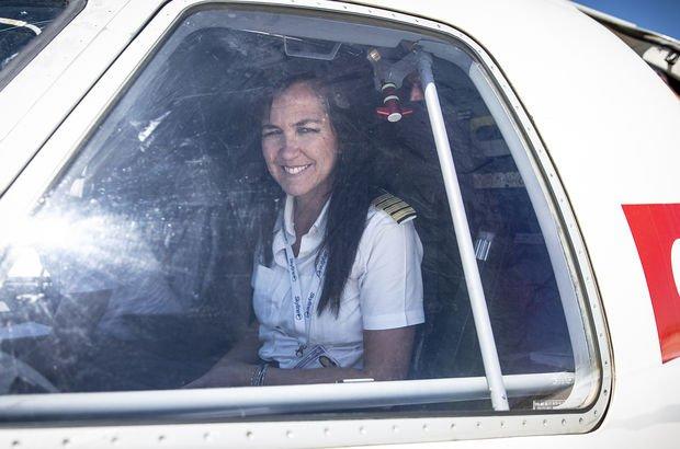 Gökyüzünün hayat kurtaran kadın pilotu!