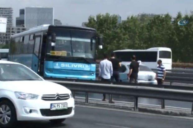 Kaza nedeniyle bölgede yoğun trafik oluştu