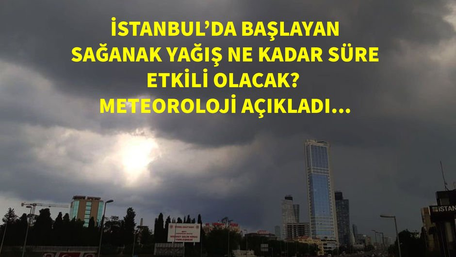 Son dakika! İstanbul'da beklenen yağış başladı!