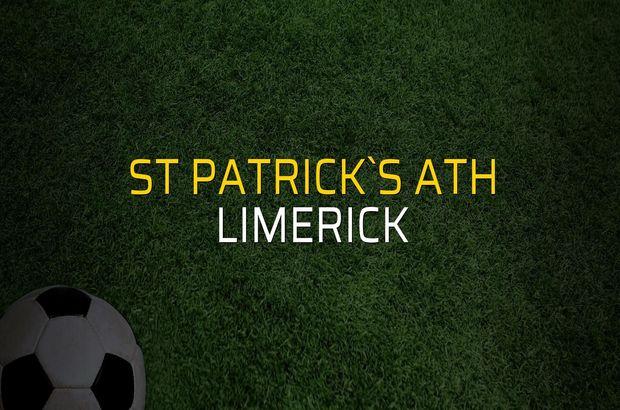St Patrick`s Ath - Limerick maçı istatistikleri