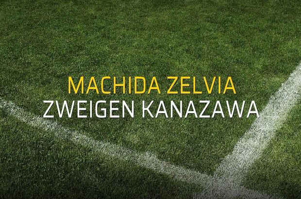 Machida Zelvia - Zweigen Kanazawa maçı istatistikleri