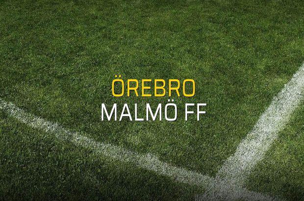 Örebro - Malmö FF rakamlar